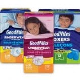 Goodnites Coupons Save $7.00 in Total ( Printable Canada)