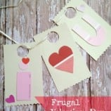 DYI Frugal Valentine's Day I Love You Banner