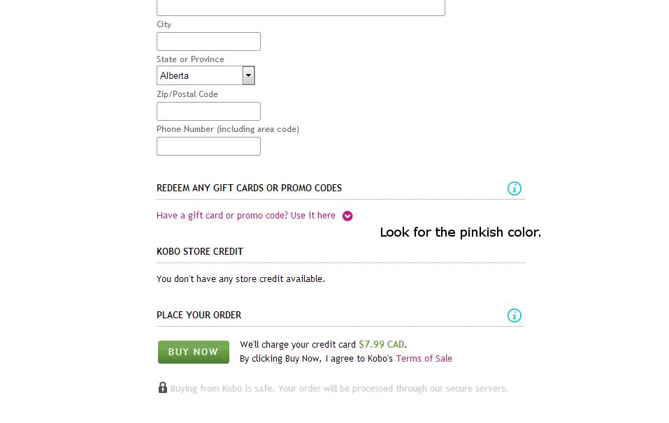 rakuten kobo promo code canada