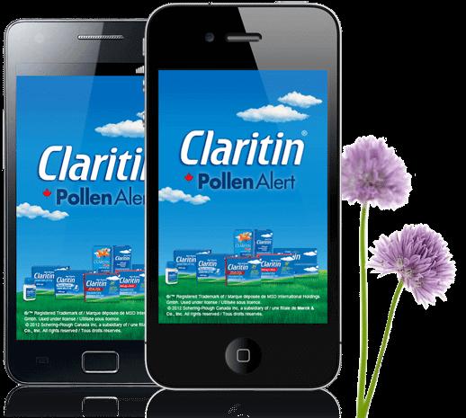 FREE Claritin Pollen Alert Mobile App