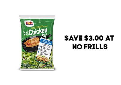 Dole Salad coupon save $3.00 at No frills