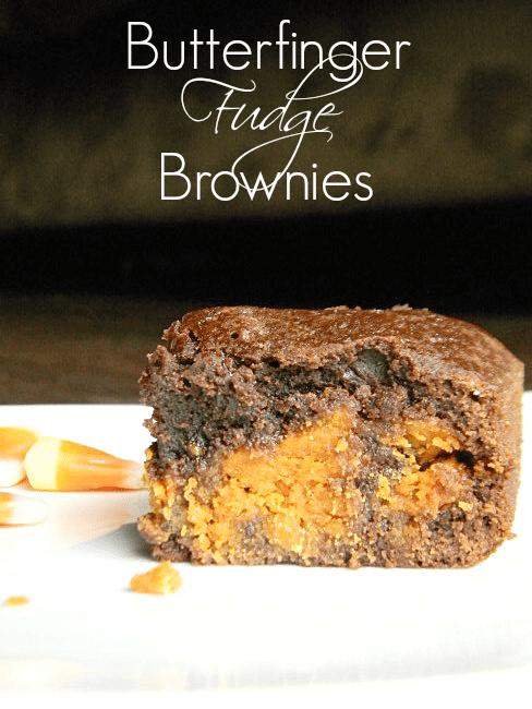 Butterfinger Fudge Brownies