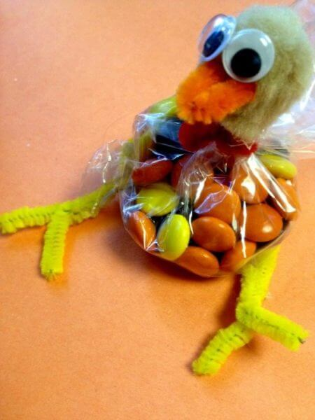 , DYI Thanksgiving Candy Turkey Favors