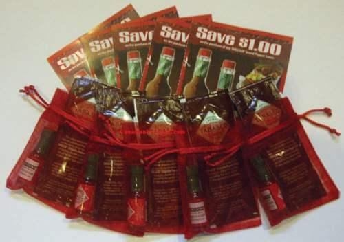FREE Tabasco Sauce Sample Packs  -Expired