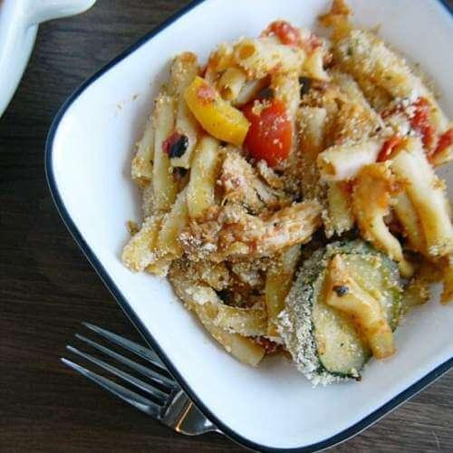 Chicken & Vegetable Parmesan Pasta Bake