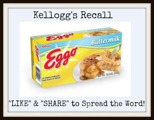 Kelloggs Eggo Waffles Recalled