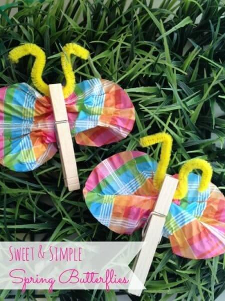 DIY Kids Craft Spring Butterflies