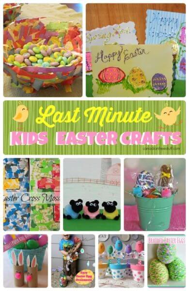 LAST MINUTE Kids Easter Crafts