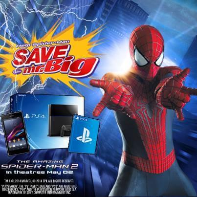 Mr Big Canada Spiderman Contest Win PS4 Prizes