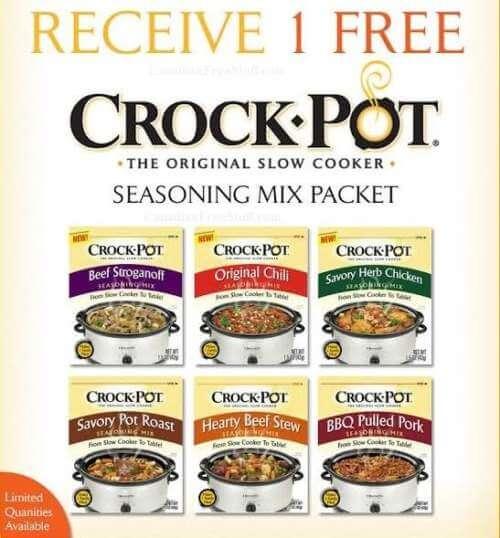 HURRY! FREE Packs of Crock Pot Seasonings!