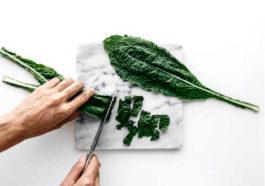 Kale cutting