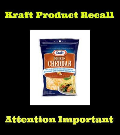 Kraft Canada Recalls Shredded Cheese