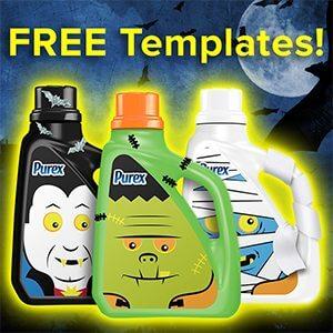 Purex Halloween Templates for Bottles