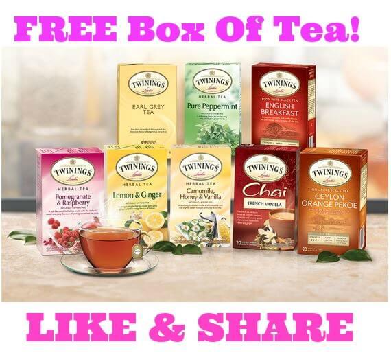 FREE Box of Twinings Tea!
