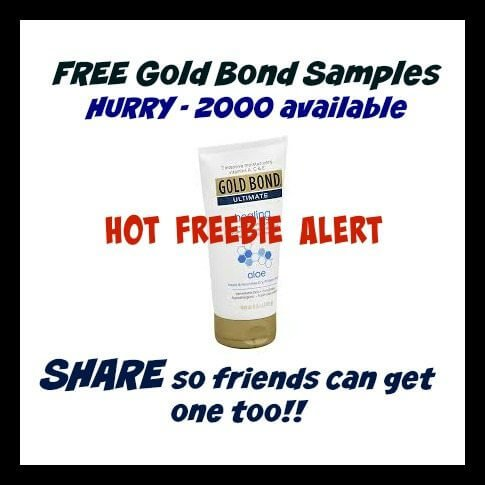 FREE Gold Bond Samples For Canada