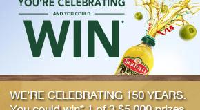 Bertolli Contest: Win One of Three $5000 Prizes
