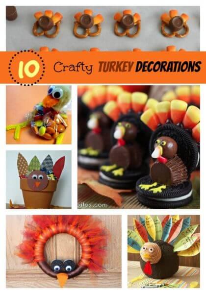10 DIY Turkey Decorations