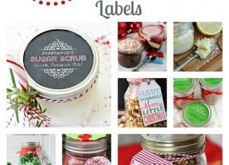 18 Mason Jar Gift Ideas with Matching Printable Gift Tags