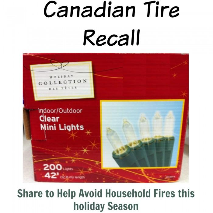Canadian Tire Recalls Christmas Lights (Indoor And Outdoor