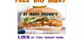 FREE Big Mary at Mary Browns Canada (Birthday Freebie)