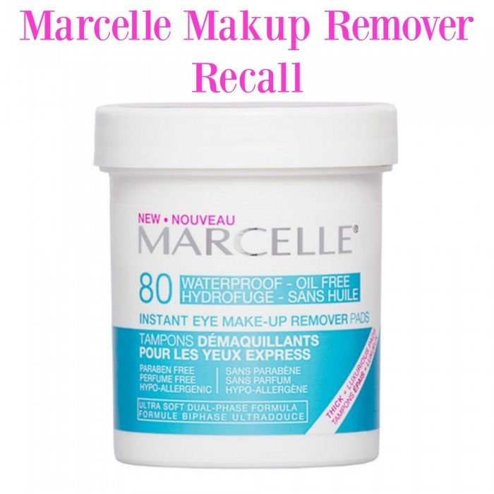 Marcelle Canada Instant Eye Makeup Remover Pads Product Recall