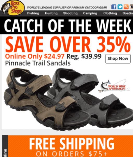 Bass Pro Shops Deal – Pinnacle Trail Sandals (Previous)