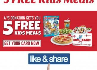 Boston Pizza Deal ~ 5 FREE Kids Meals