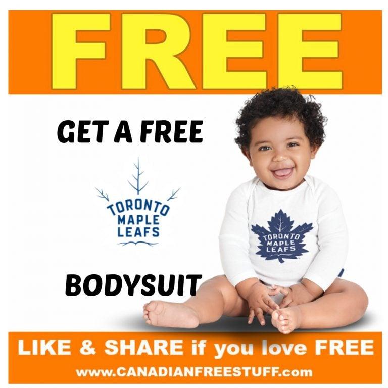 Free Toronto Maple Leaf Baby Bodysuit