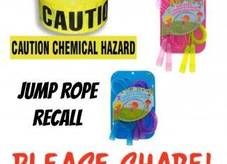 Dollarama Recalls Jump Ropes (Chemical Hazard!!)