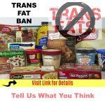 Health Canada To Ban Trans Fat