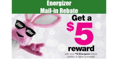 Energizer Online Rebate Offer ~ Get $5.00 Cash Back