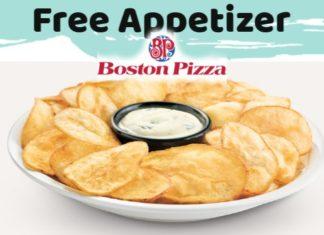 Boston Pizza Free Appetizer