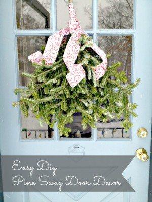 DIY Pine Swag Door Decoration