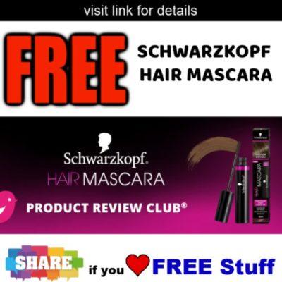 , Get FREE Schwarzkopf Hair Mascara from Chickadvisor – Go!
