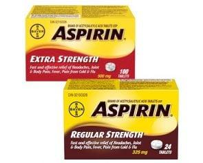 Aspirin Coupons- Save $2.00 (Previous)