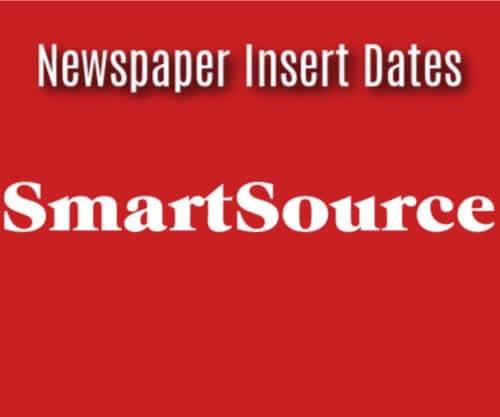 SmartSource Insert Coupons ~  2020 Newspaper Schedule