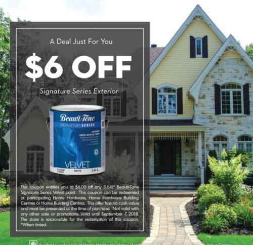 Home Hardware Printable Coupon- Save $6.00 on Paint