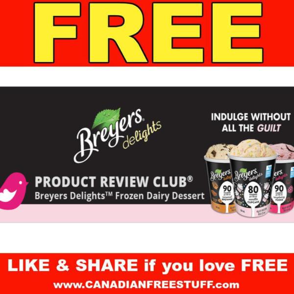FREE Breyers Delights Frozen Dairy Dessert