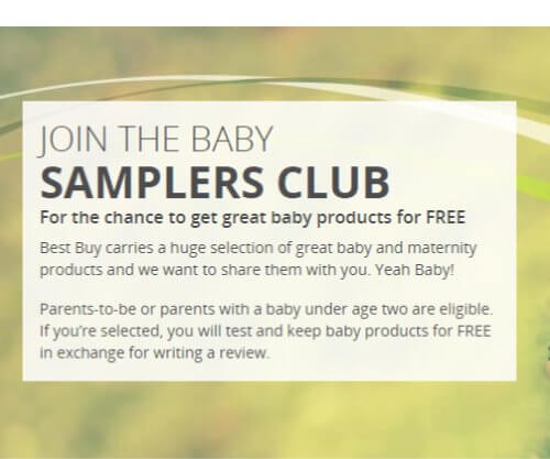 FREE Baby Samples at Best Buy Canada
