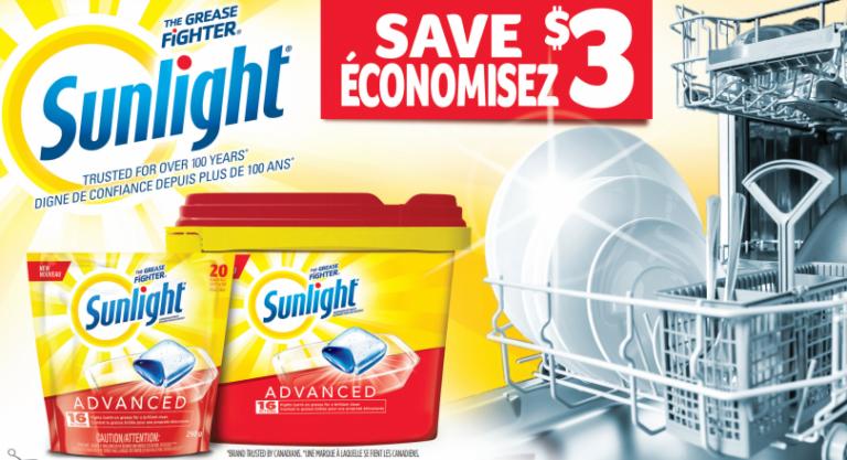 Sunlight Detergent Coupon Dishwasher