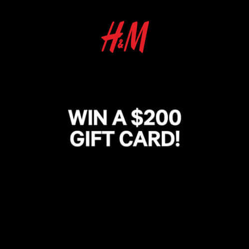 H&M Canada Contest: WIN a $200 H&M gift card (5 Winners)