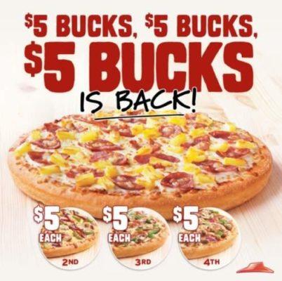 Pizza Hut Specials :$5 Bucks $5 Buck