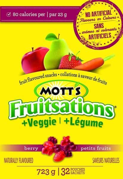 Motts Canada : Fruitsation Veggie Berry