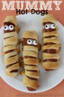 Mummy Hot Dog Recipe for Halloween