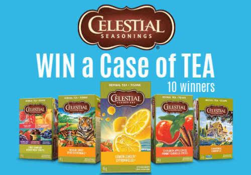 Celestial Seasonings Contest ~ Win a FREE Case of Tea (10 winners)