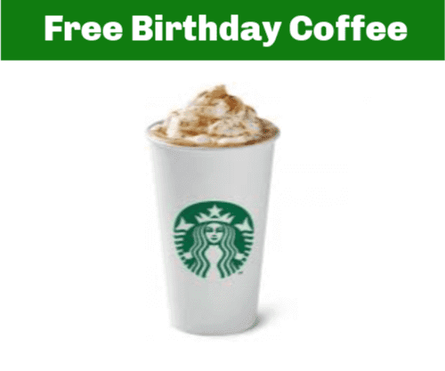 Starbucks Free Coffee on your birthday