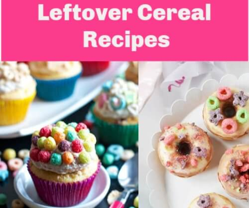 10 Recipes  to Use up Leftover Kellogg's Cereal