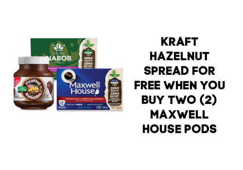 Free Kraft HazelNut when you purchase two maxwell house coffee pods at No frills. Coupon