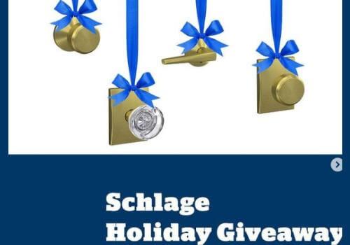 Schlage Holiday giveaway win 1 of 5 brass door handles