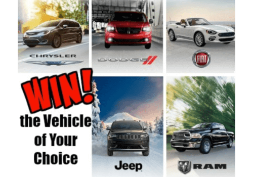 Dodge Canada Contest: WIN a new 2021/2022 Vehicle valued $70,000